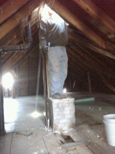 Chimney out of attic